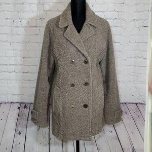L.L. Bean coat, taupe, acrylic/poly/wool, sz M
